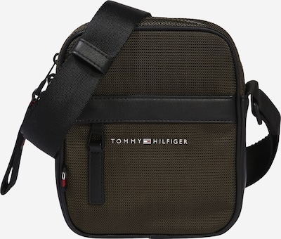 TOMMY HILFIGER Torba preko ramena u tamno zelena / crna, Pregled proizvoda