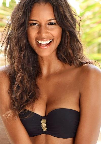 LASCANA Bikini-Top 'Ella' in schwarz: Frontalansicht