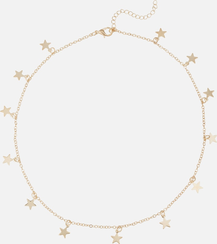 We Are Flowergirls Kette  'Long Stars' in gold: Frontalansicht