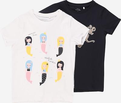 NAME IT T-Shirt 'NMFVIX 2P SS TOP D' en bleu nuit / blanc, Vue avec produit
