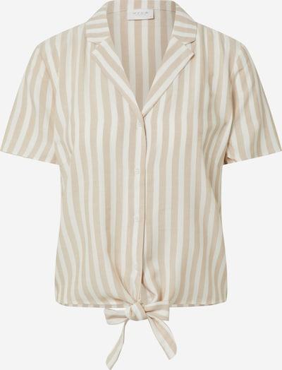 VILA Blusenshirt 'VISOVERA S/S SHIRT' in beige / offwhite, Produktansicht