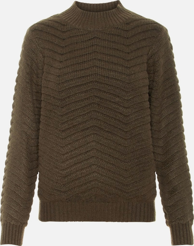 Y.A.S Pullover 'BEATRICE' in tanne: Frontalansicht