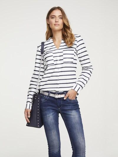 heine Blouse in de kleur Marine / Wit, Modelweergave