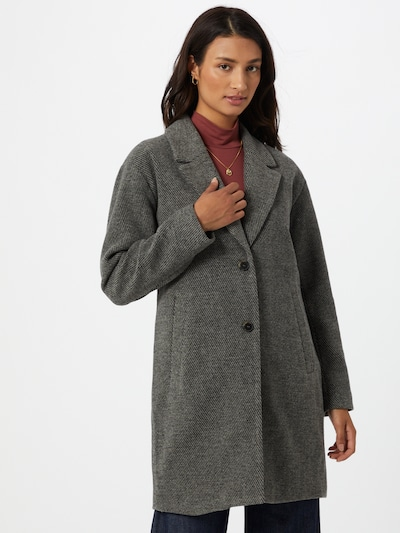 SELECTED FEMME Mantel 'MISSA' in hellgrau / schwarzmeliert, Modelansicht