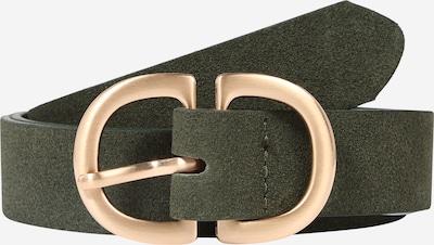 PIECES Gürtel in gold / dunkelgrün, Produktansicht