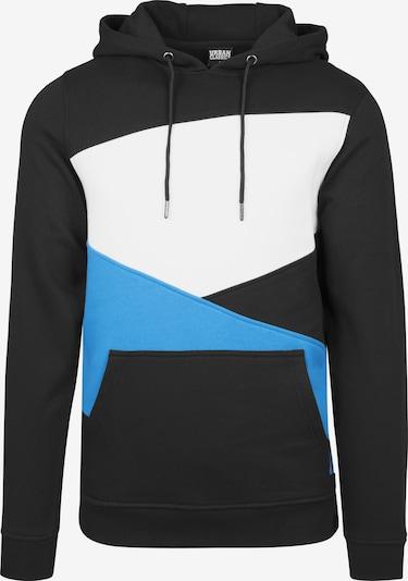 Urban Classics Sweatshirt 'Zig Zag' i aqua / sort / hvid, Produktvisning