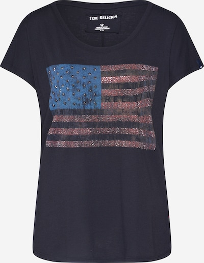 True Religion Koszulka 'CREWNECK TSHIRT RELAX AMERICAN' w kolorze czarnym, Podgląd produktu