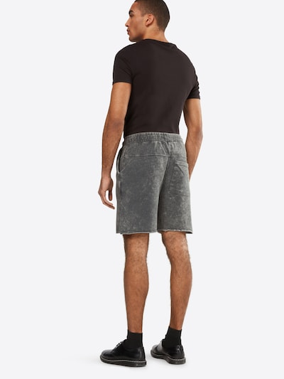 Urban Classics Shorts 'Vinage Terry' in grey denim: Rückansicht