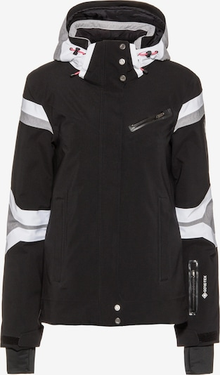 SPYDER Skijacke 'Poise' in graumeliert / schwarz / weiß, Produktansicht