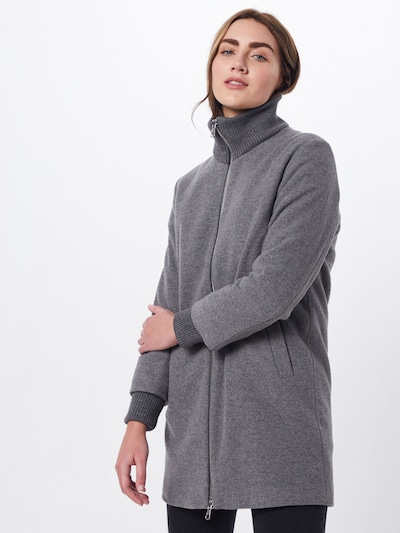 SET Mantel in grau: Frontalansicht