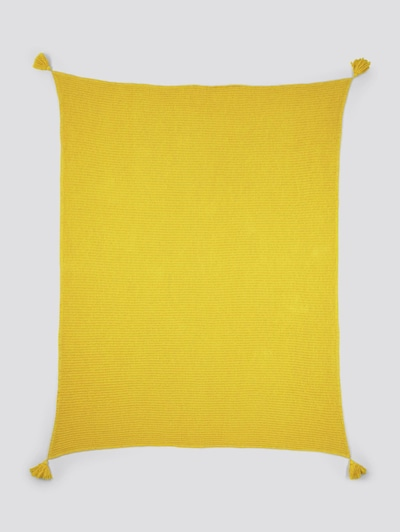 TOM TAILOR Home Decke mit Quasten in gelb, Produktansicht