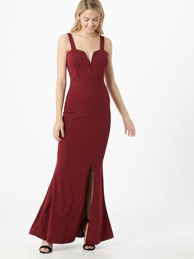 Rochie de seară WAL G. pe roșu vin, Vizualizare model