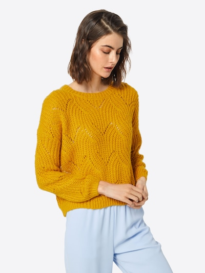 ONLY Strickpullover in gelb, Modelansicht