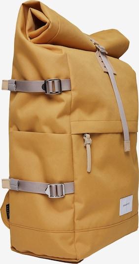 SANDQVIST Rugzak 'BERNT' in de kleur Mosterd, Productweergave