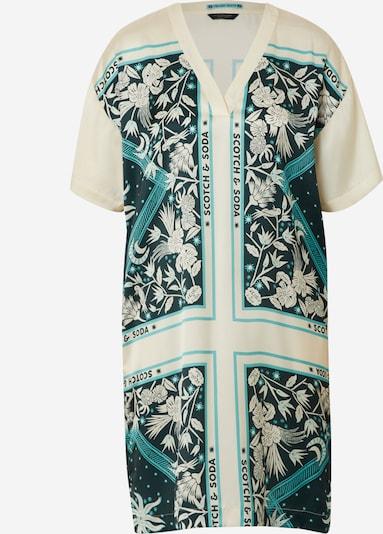 SCOTCH & SODA Kleid in creme / hellblau / schwarz, Produktansicht