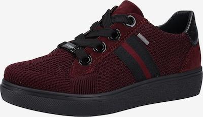 ARA Baskets basses en rouge sang / noir: Vue de face