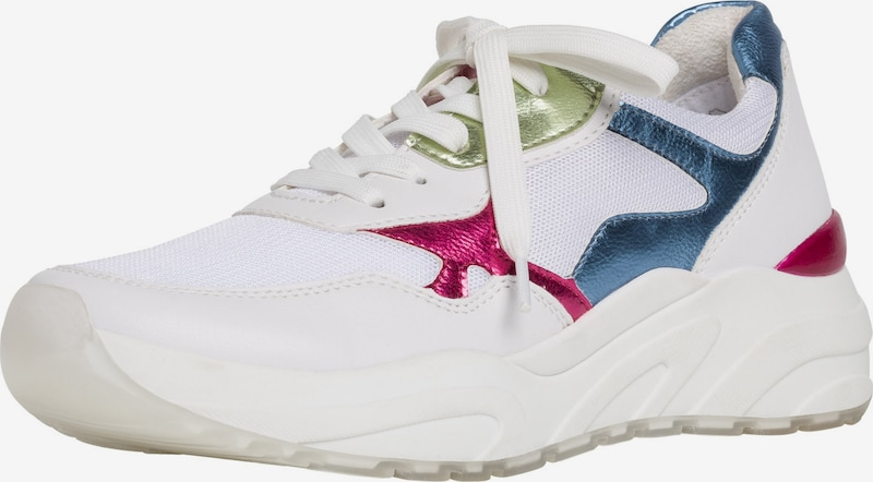 MARCO TOZZI Sneakers laag in Blauw / Groen / Pink / Wit WC32WETL