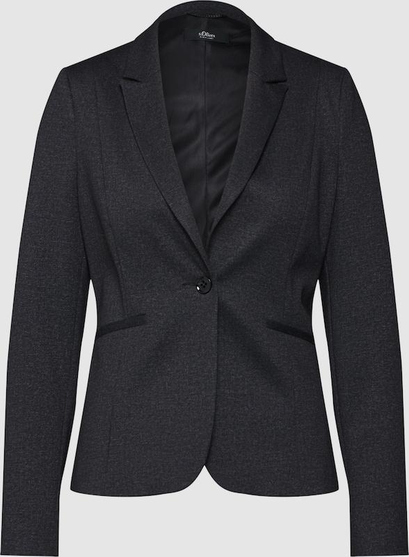 S.Oliver schwarz LABEL Blazer in schwarz  Mode neue Kleidung
