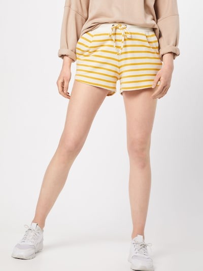 Sublevel Hose in gelb / offwhite, Modelansicht