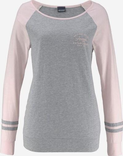 ARIZONA Pyjama in graumeliert / hellpink, Produktansicht