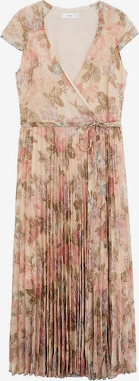 MANGO Plážové šaty - krémová / pastelově zelená / starorůžová, Produkt