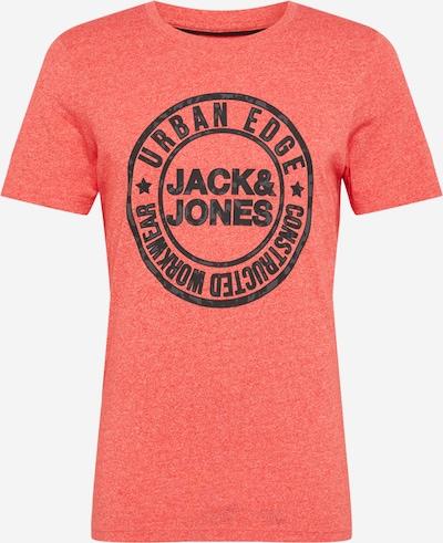 JACK & JONES Särk 'SIRIGU' hall / meleeritud punane / must: Eestvaade