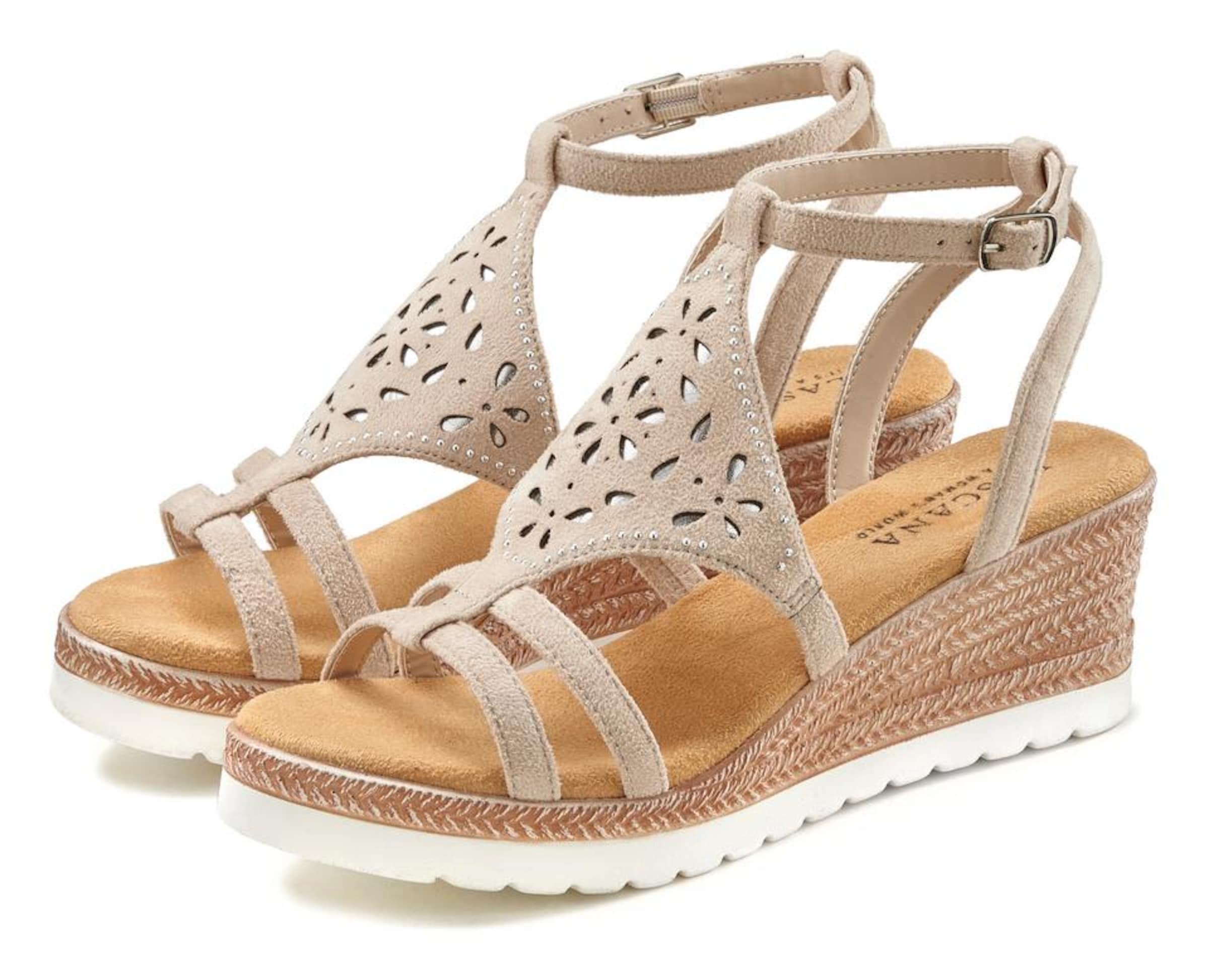 LASCANA Sandal i beige