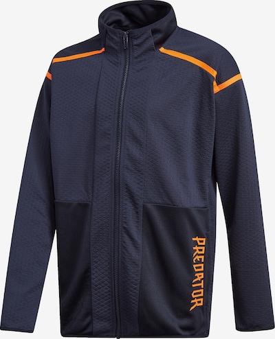 ADIDAS PERFORMANCE Trainingsjacke in nachtblau / dunkelorange, Produktansicht