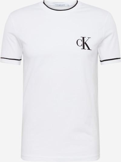 Calvin Klein Jeans Majica 'TIPPING CK ESSENTIAL TEE' | črna / bela barva, Prikaz izdelka