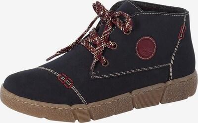 RIEKER Ležerne čizme u tamno plava / karmin crvena / bijela, Pregled proizvoda