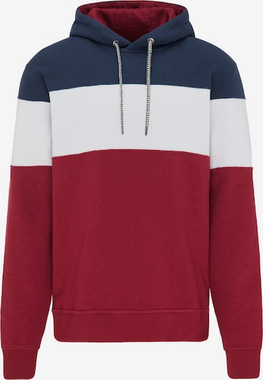 recolution Kapuzenpullover Casual Hoodie BLOCK in blau / rot / weiß, Produktansicht