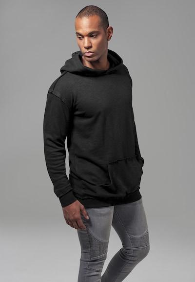 Urban Classics Sweatshirt 'Oversized Open Edge Slub Terry Hoody' in schwarz: Frontalansicht