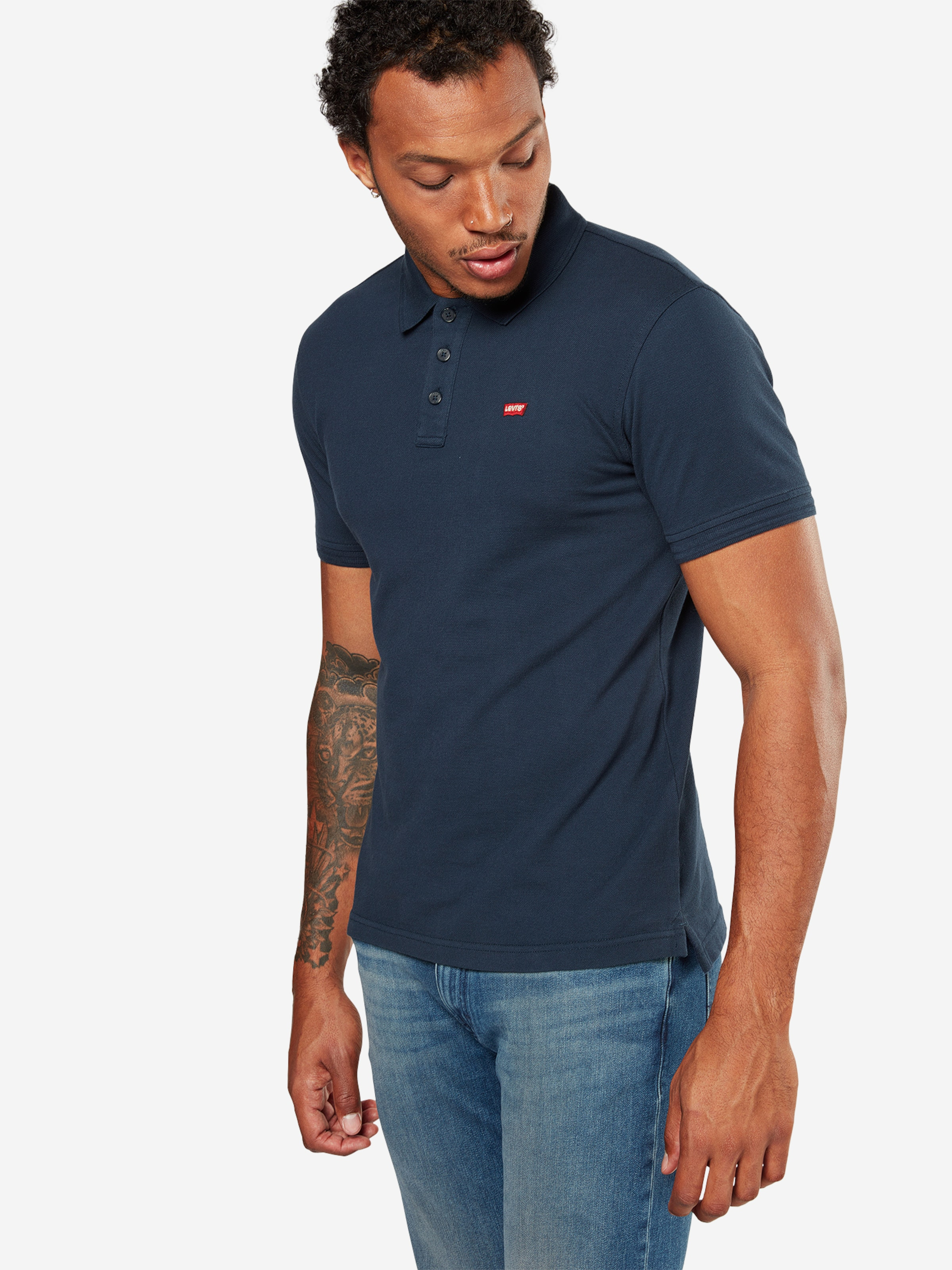 T Bleu Levi's shirt En Foncé 'housemark' by6v7gYf