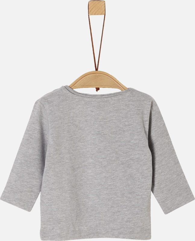 s.Oliver Longsleeve in graumeliert: Frontalansicht