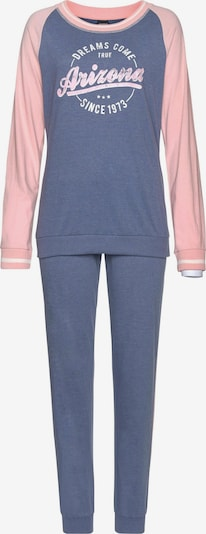 ARIZONA Pyjama in taubenblau / hellpink, Produktansicht