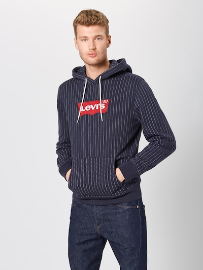 LEVI'S Sweatshirt in dunkelblau / hellrot / weiß, Produktansicht