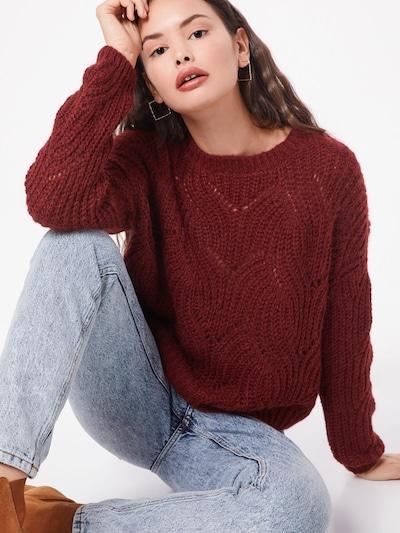 Megztinis iš ONLY , spalva - vyno raudona spalva, Modelio vaizdas