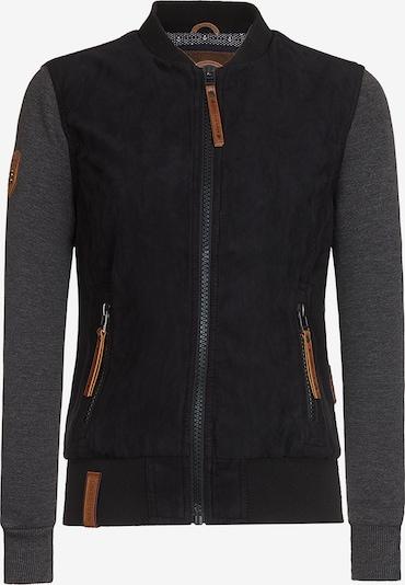 naketano Jacke in braun / graumeliert / schwarz, Produktansicht