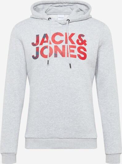 JACK & JONES Mikina 'Splash' - světle šedá / pink: Pohled zepředu