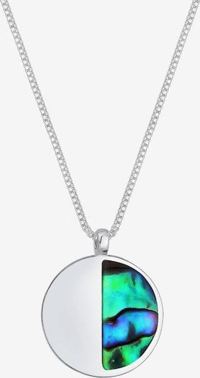 ELLI Halskette 'Geo, Halbmond' in jade / silber, Produktansicht