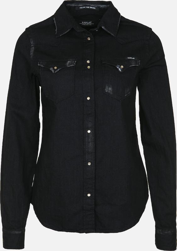 REPLAY Hemd in schwarz  Neu in diesem Quartal