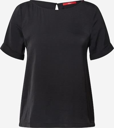 s.Oliver Bluse in schwarz, Produktansicht
