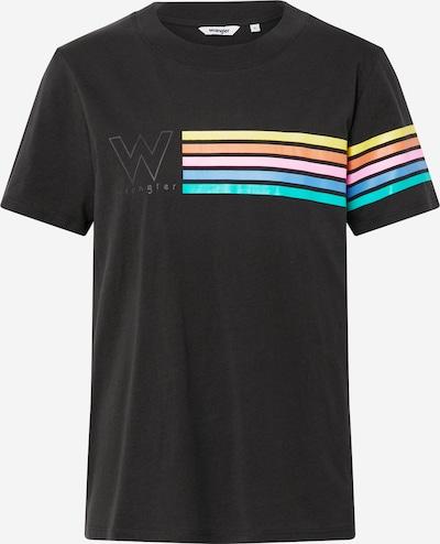 WRANGLER T-shirt 'HIGH RIB REGULAR TEE' en noir, Vue avec produit