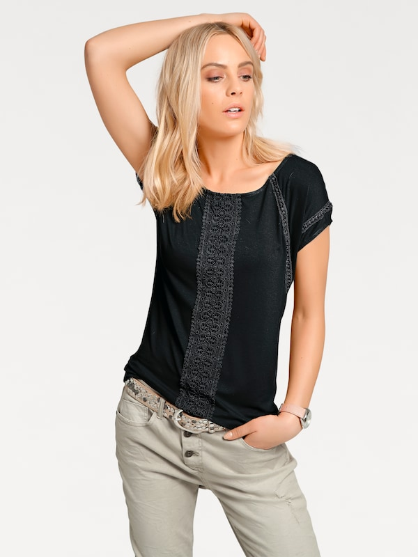 T shirt T Heine Heine shirt Noir En wOkn0P