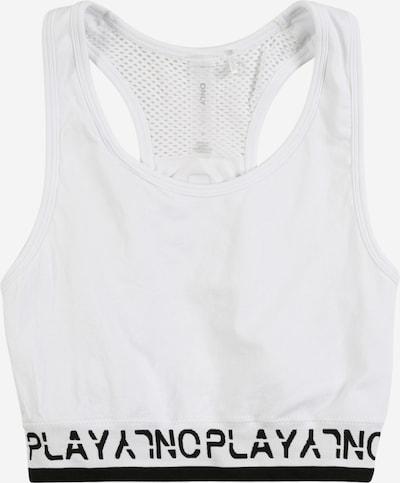 ONLY PLAY Sport bh in de kleur Zwart / Wit, Productweergave
