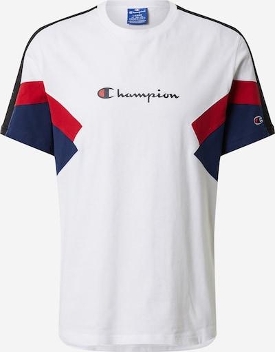Champion Authentic Athletic Apparel T-Shirt en bleu marine / rouge / noir / blanc, Vue avec produit