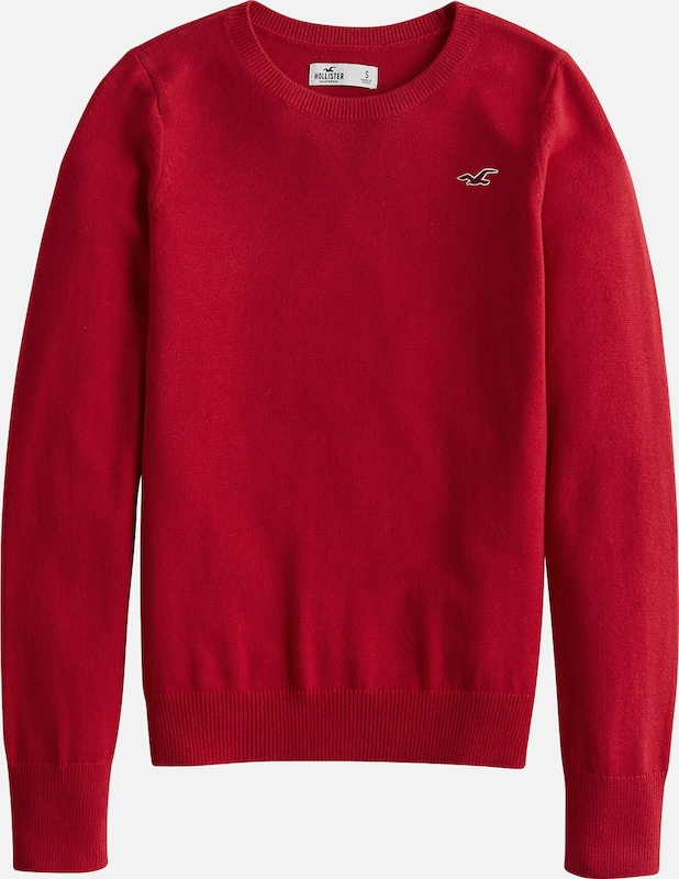 HOLLISTER Pullover 'XM19-INTL JERSEY CREW PULLOVER 4CC' in rot, Produktansicht