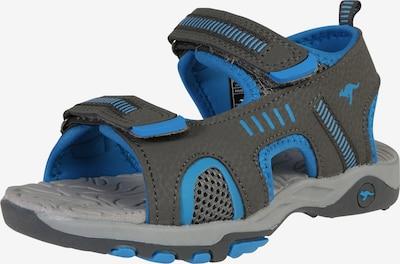 KangaROOS Sandale 'Logan' in blau / dunkelgrau, Produktansicht
