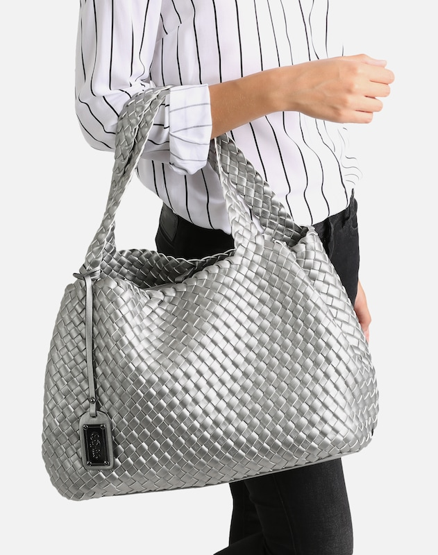 BUFFALO Shopper in silber: Frontalansicht