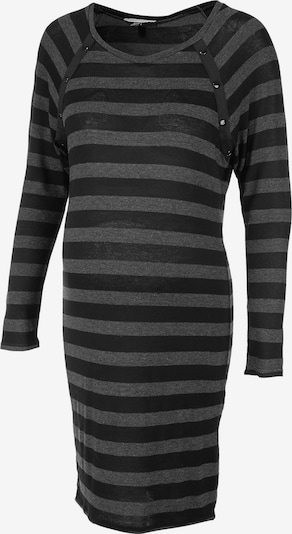 Envie de Fraise Umstandskleid 'Tasty' in graumeliert / schwarz, Produktansicht